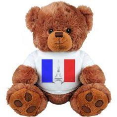 Eiffel Tower France Medium Plush Teddy Bear