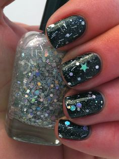 "Nail polish - ""Ode to the elite"" silver holographic glitter nail polish"