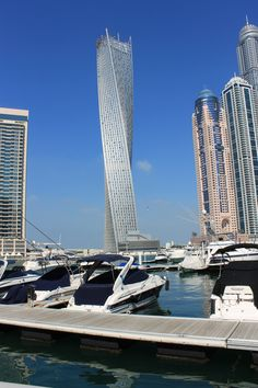 Cayman Tower, Dubai Marina, Dubai - with its 90 degree smooth curve. The dynamic spiral of the tower gives residents of the 80-story tower spectacular views of the sea or marina. Designed by Skidmore Owings and Merrill