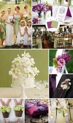 Bohemian Color Palette | Sage, Purple and Cream Color Scheme