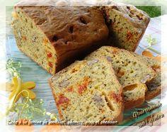 Gourmande sans gluten: Cake à la farine de lentilles, chorizo, noix et ch... Quiche Sans Gluten, Chorizo, Cake Chevre, Banana Bread, Food And Drink, Keto, Lactose, Pain, Desserts