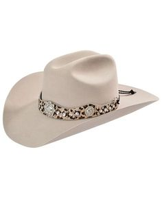 This would be so perfect if I could find it with zebra print instead of leopard. Would be adorable with her bling zebra cowgirl boots!  Katydid Rhinestone Embellished Leopard Hair on Hide Leather Hat Band