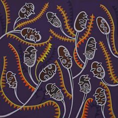 Helen Ansell Flat Color, Colour, Line Patterns, Australian Artists, Cubism, Native Plants, Botanical Prints, Flower Art, Nativity