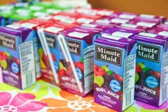 Save the packaging of your kid's favorite drinks and snacks.