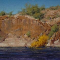"""MATT SMITH, """"Water's Edge"""" (oil, 19x28) posted by Plein-air Painters of America on Facebook, 21 Jan 2013."""