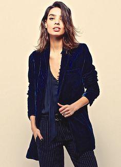 NEW Free People Velvet teal blue Oversize Slouchy Drapy Blazer Jacket S $168 #FreePeople #velvetjacket