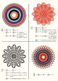 """How to Draw with Spirograph: Spent hours, and also a lot of frustration, on Spirograph when I was younger! Spirograph Art, Zentangle, Stamping Plates, Repeating Patterns, Op Art, String Art, Sacred Geometry, Design Crafts, Coloring Books"