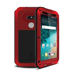 [$16.06] LOVE MEI for LG G5 Professional and Powerful Waterproof Dustproof Shockproof Anti-slip Metal Protective Case(Red)