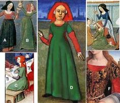 15th century kirtle and overdress - I do quite like the side lacings.. might help with alleviating sweaty armpit issues!