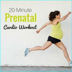 This 20-minute prenatal cardio workout is a low impact routine for moms-to-be!