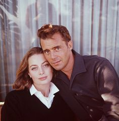 Capucine and Dirk Bogarde,  1960. Photo by Peter Basch.