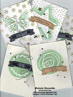 Handmade cards using Stampin' Up! products - You're So Lovely Photopolymer Stamp Set and You're So Lovely Project Kit.  By Michele Reynolds, Inspiration Ink.  #stampinup #inspirationink #youresolovely