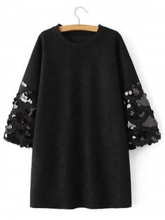 Sequin Mini Batwing Faux Suede Dress - Cheapest and Latest women & men fashion site including categories such as dresses, shoes, bags and - Mode Abaya, Mode Hijab, Cheap Dresses, Casual Dresses, Fashion Dresses, Mens Fashion Website, Fashion Site, Sequin Cocktail Dress, Cocktail Dresses