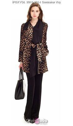 #ipekyol 2014 leopard coats http://www.giyimvemoda.com/ipekyol-2014-kis-kaban-ve-palto-modelleri.html