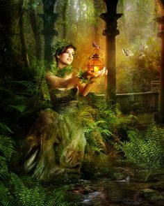 Fern by InertiaRose on DeviantArt Creatures Of The Night, September 10, Practical Magic, Fairy Land, Fairy Tales, Mother Earth, Nymph, Magick, Enchanted