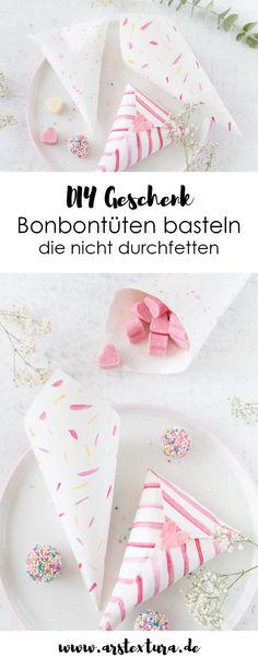 Bonbontüten Aus Papier Basteln Mit Und Wasserfarbe Video Anleitung