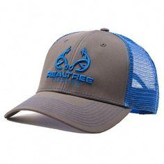 Custom Realtree Blue Fishing Logo Mesh Back Hat  ThingstoWear Camo Outfits d931b789410