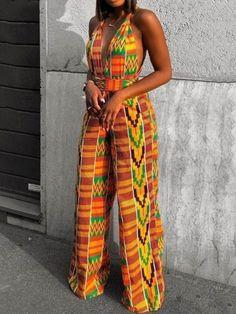 African Print Jumpsuit, Ankara Jumpsuit, Kente Dress, African Dresses For Women, African Outfits, Printed Jumpsuit, African Print Fashion, A Boutique, Jumpsuits For Women