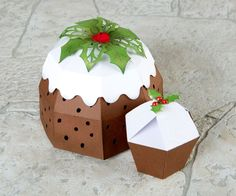 Christmas pudding made using the Cutting Craftorium Christmas USB and CD ROM! / papercraft / craft / Christmas craft / Christmas decorations