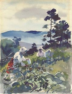 Andrew Wyeth, Berry Picking