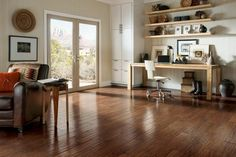 Red Rock Canyon Hickory Hardwood Floors by Armstrong