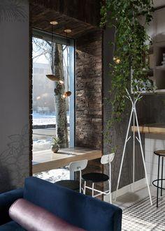 Wonderful and Modern Green Garden Gastro Bar in Ukraine