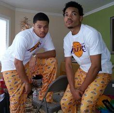 Chancelor Bennett(chance the rapper)& Taylor Bennett (his brother)
