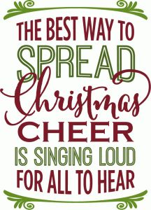 Silhouette Design Store - View Design #71385: best way to spread christmas cheer - phrase