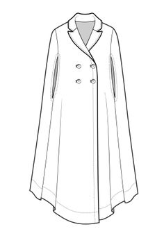 Fashion Drawing A/W Design Direction: Womenswear outerwear Fashion Design Template, Fashion Pattern, Fashion Templates, Diy Design, Fashion Flats, Fashion Art, Womens Fashion, Fashion Trends, Fashion Design Drawings