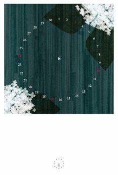 2012年カレンダー 「月時計」