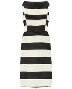 LANVIN • Striped cotton-blend sheath dress