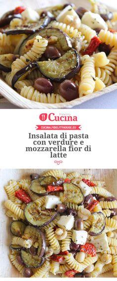 Insalata di pasta con verdure e mozzarella fior di latte