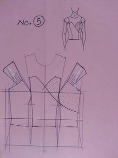 Pattern Draping, Bodice Pattern, Collar Pattern, Dress Sewing Patterns, Blouse Patterns, Clothing Patterns, Aya Couture, Pattern Drafting Tutorials, Modelista