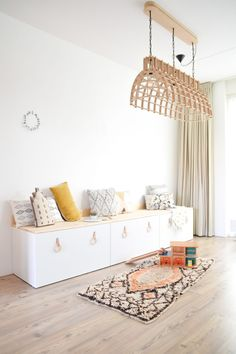 MDF lamp with a good story. (read more on . - Ikea DIY - The best IKEA hacks all in one place Ikea Hacks, Ikea Hack Besta, Ikea Hack Kids, Ikea Stuva, Ikea Kids Room, Diy Hacks, Ikea Room Ideas, Playroom Ideas, Bedroom Hacks