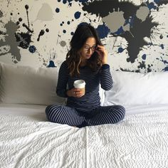 Sleep in and enjoy your staycation in our luxurious bedding, modern ambience, and beautiful views of San Francisco! Photo by Crystalin Marie.