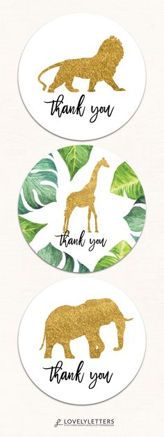 Safari Toppers / Safari Favor Tags / Safari Cupcake Toppers / Safari Baby Shower Tags designed by Lovely Letters Design  lovelylettersdesign.com