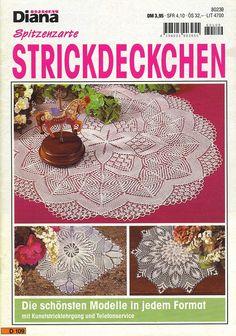 Diana Special - D 109 Strickdeckchen - Alex Gold - Picasa Web Album Crochet Books, Crochet Art, Thread Crochet, Lace Knitting, Lace Doilies, Crochet Doilies, Lace Patterns, Knitting Patterns, Crochet Table Runner