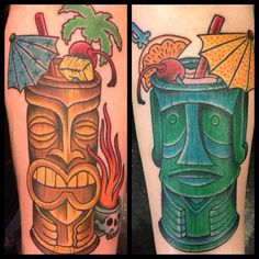 Photo by learytattoo - his and hers tiki drinks