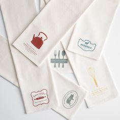 Personalized kitchen towels from RedEnvelope.com