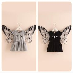 Butter Fly Wing Dresses Letters Print Ruffles Dresses For Girls Summer Cute Stylish Dresses New Fashion Children Dresses By Smartmart Online with $7.0/Piece on Smartmart's Store | DHgate.com