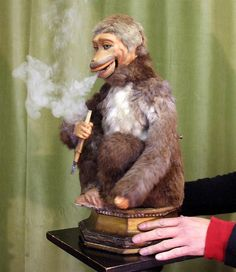 Automaton Smoking Monkey    By Roullet & Decamps of Paris, circa 1890