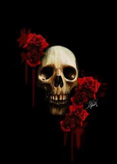 Skull And Roses Wallpapers High Quality Resolution ~ Sdeerwallpaper
