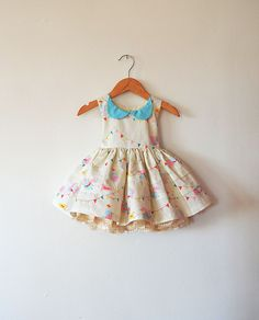 Baby's First Trip to Disney Dress with Peter Pan Collar and Petticoat by aggieandfrancois on Etsy https://www.etsy.com/listing/226880212/babys-first-trip-to-disney-dress-with