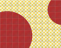 Big Red Dots ceramic tiles created by Hemingway Design, exclusively for Surface View