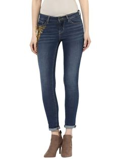 Stud Embellished Denim Ankle Length Skinny Fit Jeans Skinny Fit Jeans, Ankle Length, Denim, Pants, Fashion, Moda, Trousers, Tapered Jeans, Women Pants