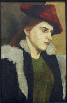 Paula Modersohn-Becker-Junge Frau rot.Hut