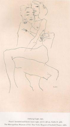 Embracing Couple. Egon Schiele