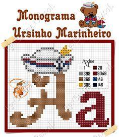 Monograma Ursinho Marinheiro