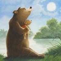 My illustrations | Eve Tharlet Bear Illustration, Animal Illustrations, Baby Room Paintings, Bear Art, Beautiful Drawings, Art Inspo, Postcards, Bears, Sketch
