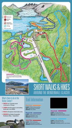 Mendenhall Glacier Recreation Area Map & Information Map